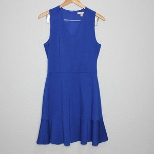 Banana Republic Factory Blue Flutter Hem Dress NWT
